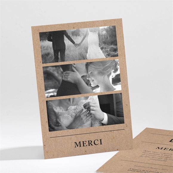 Remerciement mariage Romance vintage réf.N211229
