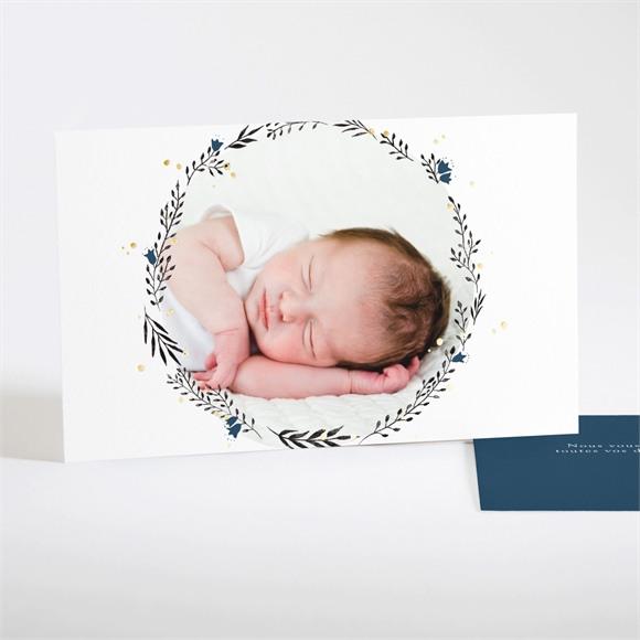 Remerciement naissance Initiale couronnée (dorure) réf.N17121