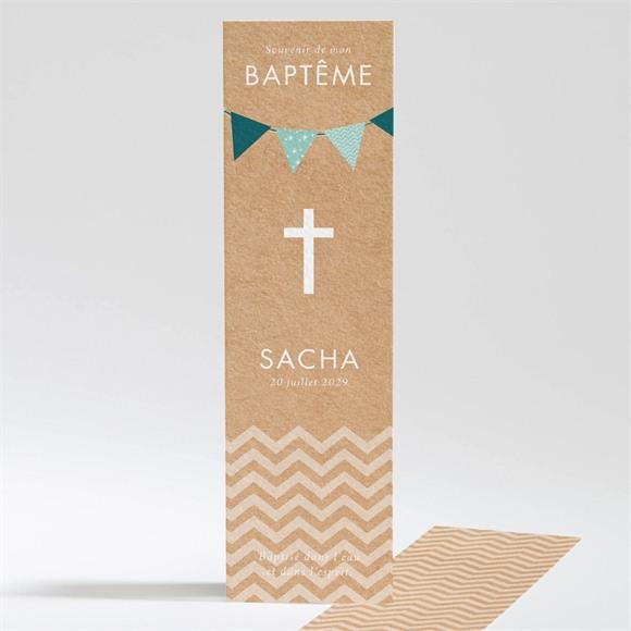 Signet baptême Farandole de kraft réf.N20151