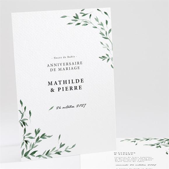 Invitation anniversaire de mariage Douceurs végétales réf.N241179