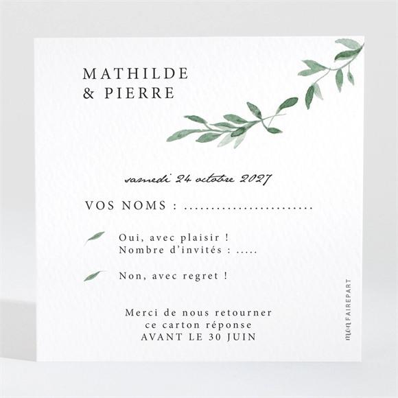 Carton réponse anniversaire de mariage Douceurs végétales réf.N3001570