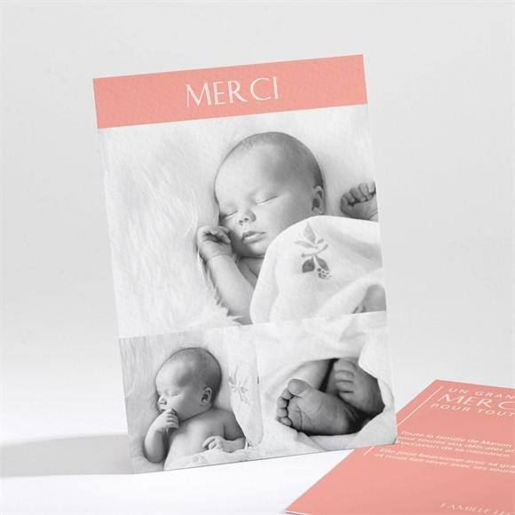 Remerciement naissance Sobre et chic réf.N211233