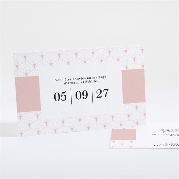 Carton d'invitation mariage Jolis symboles réf.N16177