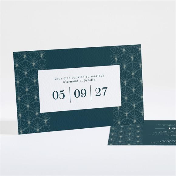Carton d'invitation mariage Art nouveau réf.N16179