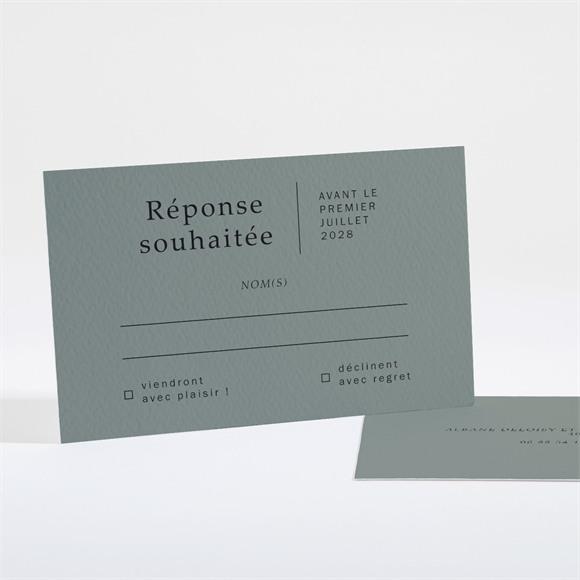 Carton réponse mariage Vert Laurier réf.N16176