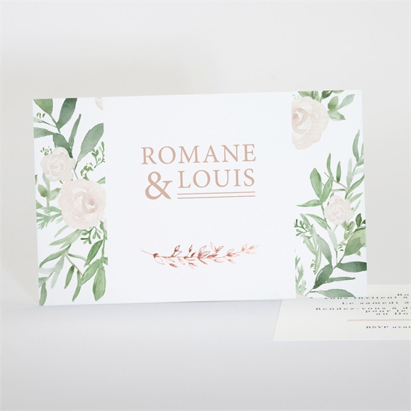 Carton d'invitation mariage Branches printanières réf.N17125