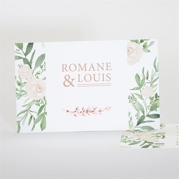 Carton réponse mariage Branches printanières réf.N17126