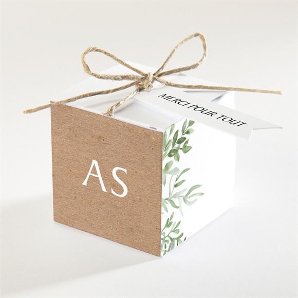 Boîte de dragées mariage Fougères réf.N340230