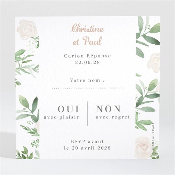 Carton réponse anniversaire de mariage Invitation champêtre réf.N3001576