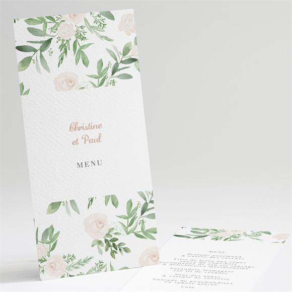 Menu anniversaire de mariage Invitation champêtre réf.N221102