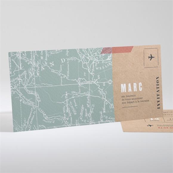 Carte invitation départ à la retraite Nouvelles Frontières réf.N13193