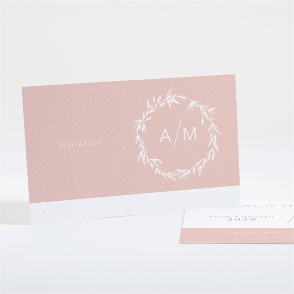 Carton d'invitation mariage Romance rétro réf.N16181
