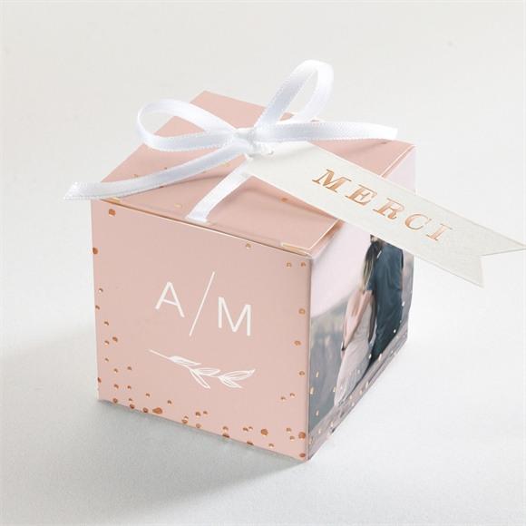 Boîte de dragées mariage Romance rétro réf.N340234