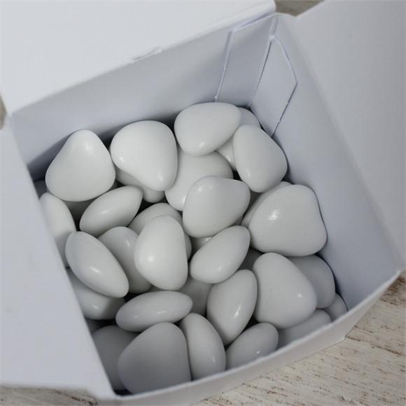 Dragées communion coeur choco blanc