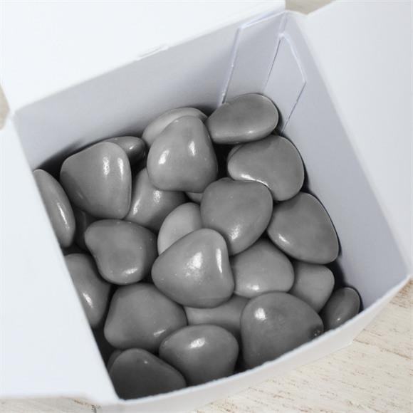 Dragées communion coeur choco gris