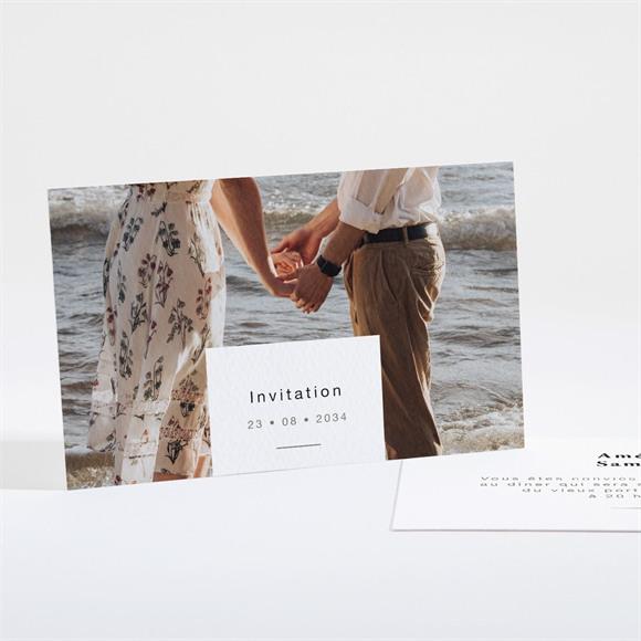 Carton d'invitation mariage Main dans la main réf.N16185