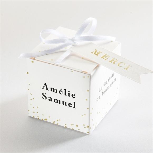 Boîte de dragées mariage Main dans la main réf.N340235
