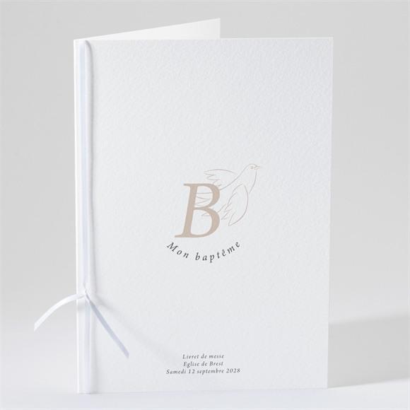 Livret de messe baptême Initiales d'or réf.N491138