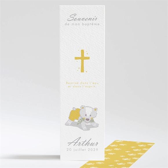 Signet baptême Annonce en rondeur ! réf.N20153