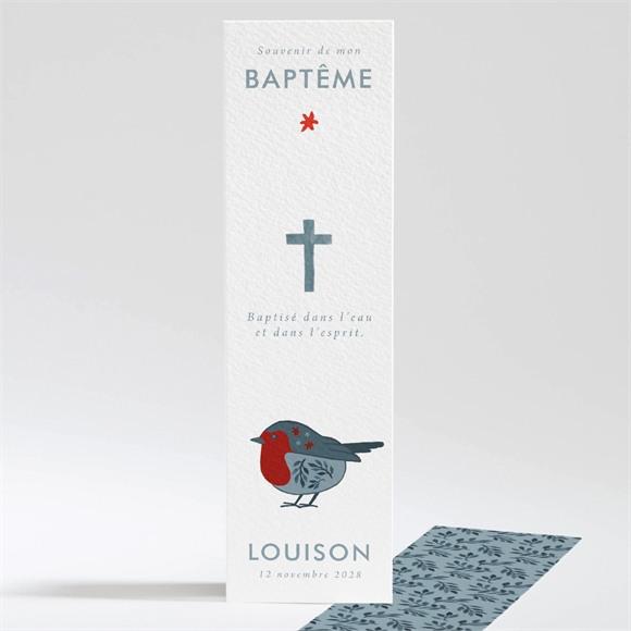 Signet baptême Fleurs en gravure réf.N20154