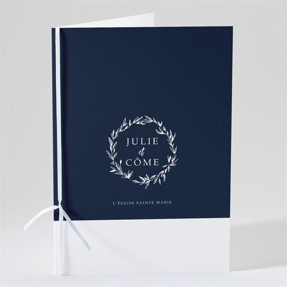 Livret de messe mariage Bleu minéral réf.N491141