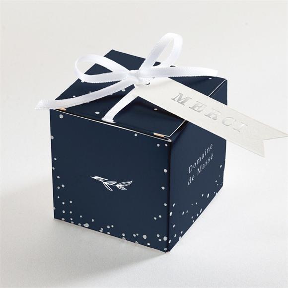 Boîte de dragées mariage Bleu minéral réf.N340239
