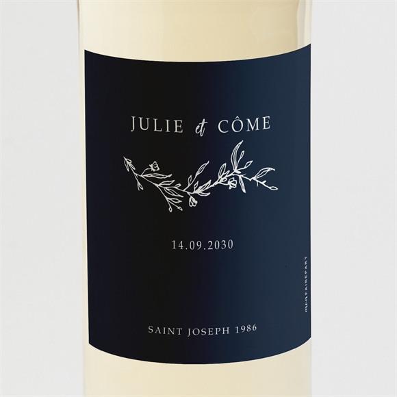Etiquette de bouteille mariage Bleu minéral réf.N3001579