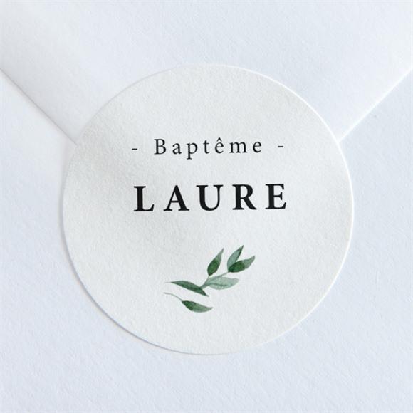 Sticker baptême Décoration végétale réf.N36033