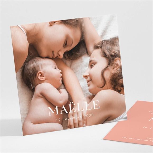 Faire-part naissance Simple incrustation sur photo réf.N301156