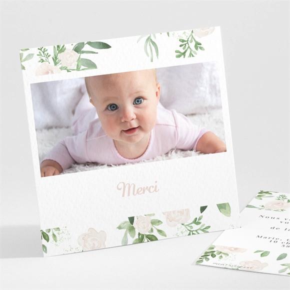 Remerciement naissance Design végétal réf.N301159