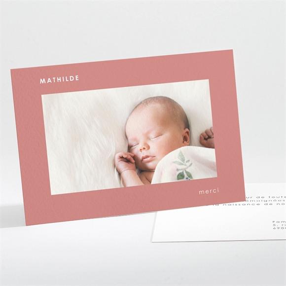 Remerciement naissance Cadre chic réf.N111253