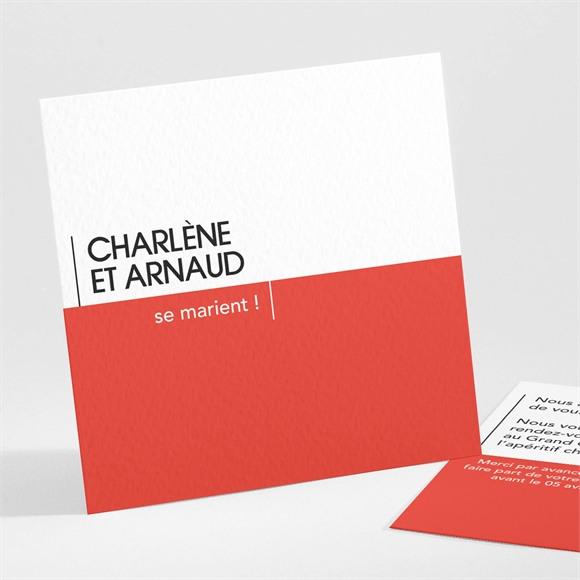 Carton d'invitation mariage Empreinte graphique réf.N301160