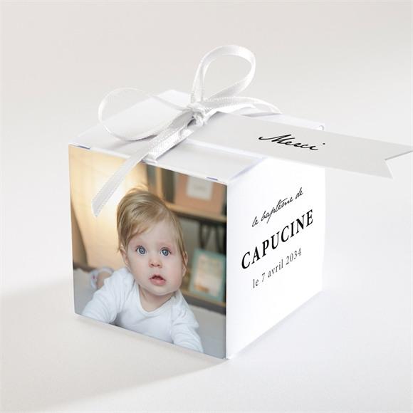 Boîte de dragées baptême Photos miniatures réf.N340246