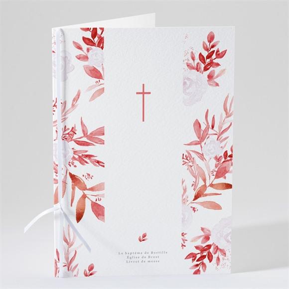 Livret de messe baptême Initiale en cuivre végétal réf.N491151