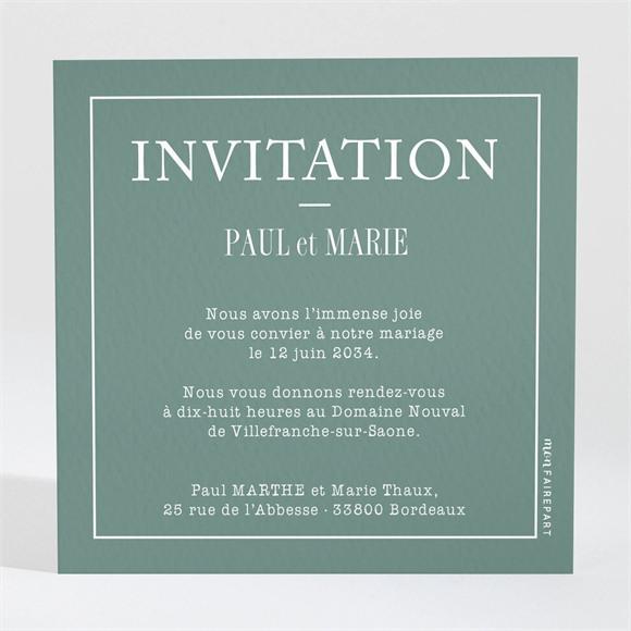 Carton d'invitation mariage Se serrer fort réf.N3001585
