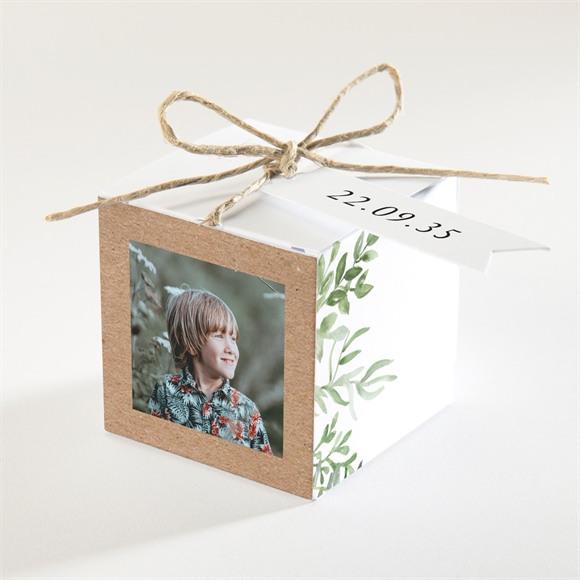 Boîte de dragées communion Illustration végétale réf.N340254