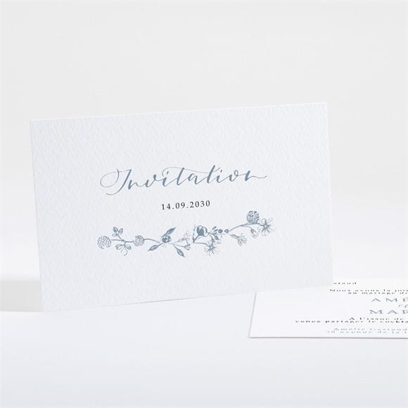 Carton d'invitation mariage Composition végétale réf.N16189
