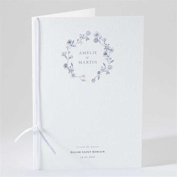 Livret de messe mariage Composition végétale réf.N491158