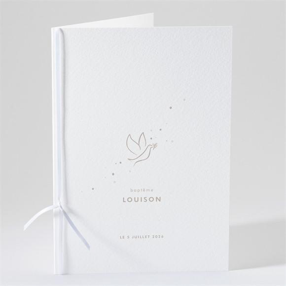 Livret de messe baptême Envolée minimaliste réf.N491159