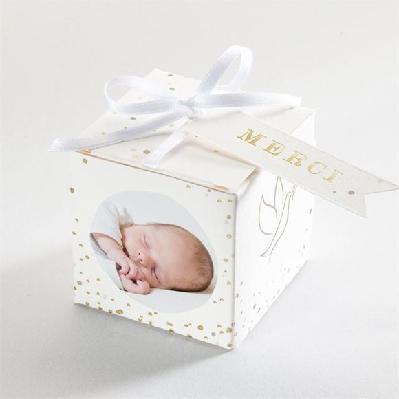 Boîte de dragées baptême Envolée minimaliste réf.N340257