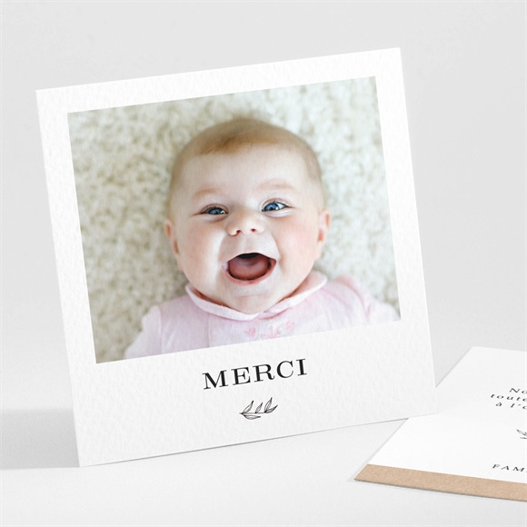 Remerciement naissance Simplicité réf.N301169