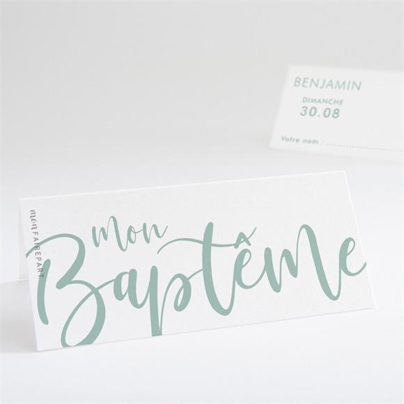 Marque-place baptême Jeu de mots réf.N440739