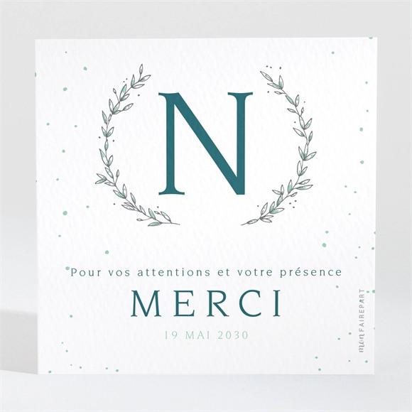 Remerciement naissance Argenté réf.N3001594