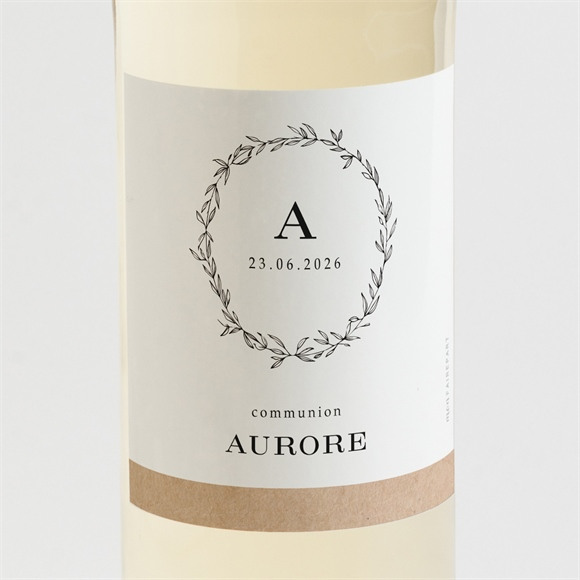 Etiquette de bouteille communion L'évidence réf.N3001595
