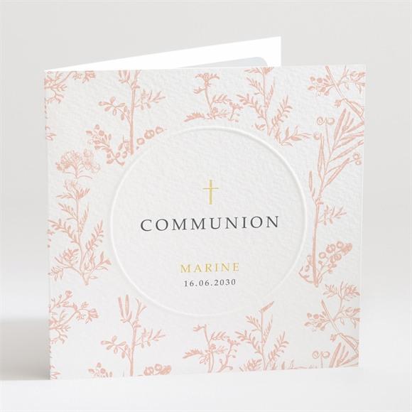 Faire-part communion Gravures végétales réf.N451149