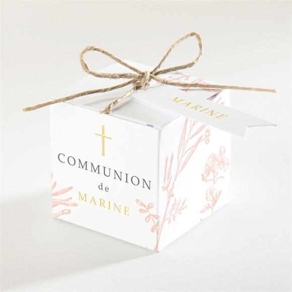 Boîte de dragées communion Gravures végétales réf.N340267