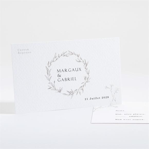 Carton réponse mariage Tendre couronne réf.N16192