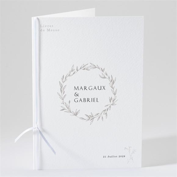 Livret de messe mariage Tendre couronne réf.N491171