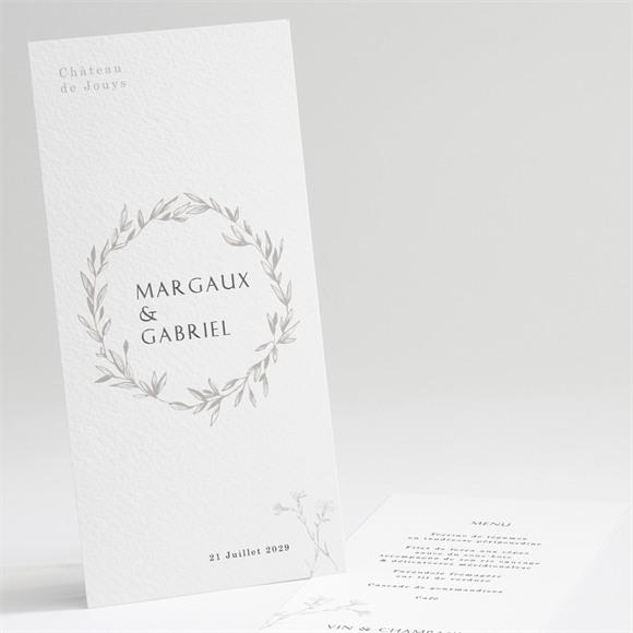 Menu mariage Tendre couronne réf.N221115
