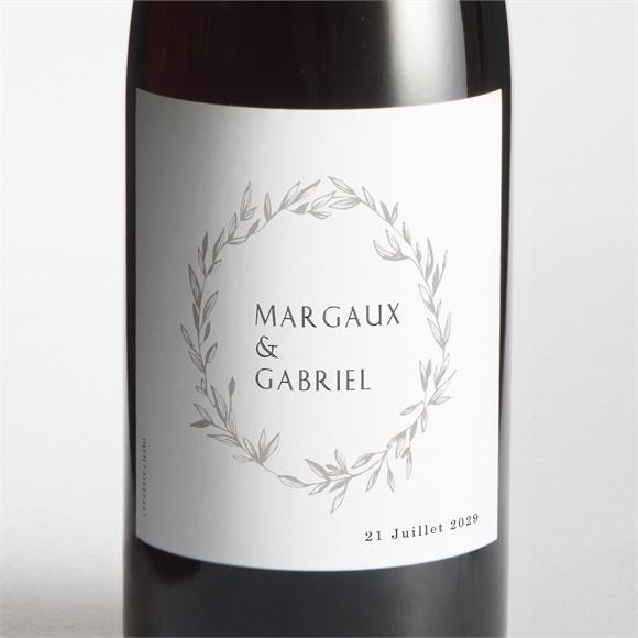 Etiquette de bouteille mariage Tendre couronne réf.N3001596
